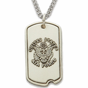 Sterling Silver U.S. Air Force Dog Tag with Cross on Back