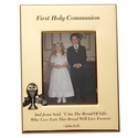 "5"" x 7"" First Holy Communion Gold Plated Metal Photo Frame with Chalice"