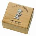 Personalized Baby Boy Baptism Maple Wood Keepsake Box