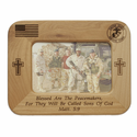 "8"" x 6"" U.S. Marines Laser Engraved Maple Wood Photo Frame"