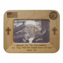 "8"" x 6"" U.S. Navy Laser Engraved Maple Wood Frame"