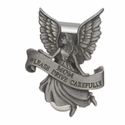 Mom Guardian Angel Pewter Visor Clip