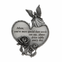 Mother Guardian Angel with Heart and Rose Pewter Visor Clip