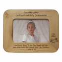 "8""x 6"" Grandaughter Laser Engraved Maple Wood Photo Frame"