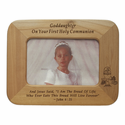 "8"" x 6"" Goddaughter Laser Engraved Maple Wood Photo Frame"