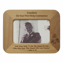 "8"" x 6"" Grandson Laser Engraved Maple Wood Photo Frame"