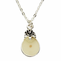 Silver Plated Round Necklace with Mustard Seed