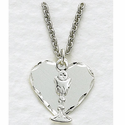 Sterling Silver Heart With Communion Chalice