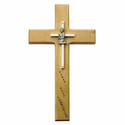 "10"" Personalized First Communion Boy Maple Wood Cross"