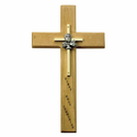 "10"" Personalized First Communion General Maple Wood Cross"