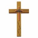 "10"" Personalized Confirmation Maple Wood Cross"