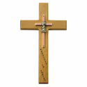 "10"" Personalized Baptim Girl Maple Wood Cross"