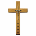 "10"" Personalized House Blessing Maple Wood Crucifix Cross"