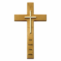 "10"" Personalized Cross House Blessing Maple Wood Cross"