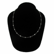 "18"" Sterling Silver Necklace with Diamond-Like CZ Stones By the Yard"