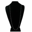 "36"" Sterling Silver Necklace Crystal Diamond-Like CZ Stones by the Yard"