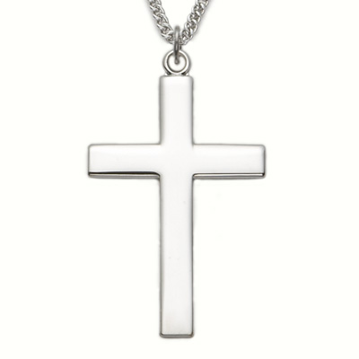 Sterling silver cross necklace with our father prayer on back of sterling silver cross necklace with our father prayer on back of cross on 24 chain aloadofball Image collections