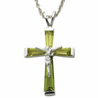 "Sterling Silver AugustCrucifix on 18"" chain"