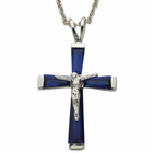 "Sterling Silver SeptemberCrucifix on 18"" chain"