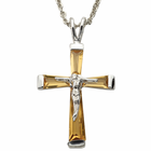 "Sterling Silver November Crucifix on 18"" chain"