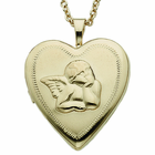 Sterling Silver Risen Angel Locket Necklace