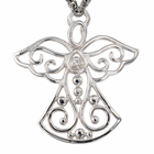 "Sterling Silver Filigree Ange Necklace on 18"" Chain"