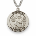 "St. John , Patron Of Publishers, Sterling Silver Engraved Medal on 24"" Chain"