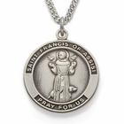 "Sterling Silver St. Francis of Assisi Medal on 24"" chain"