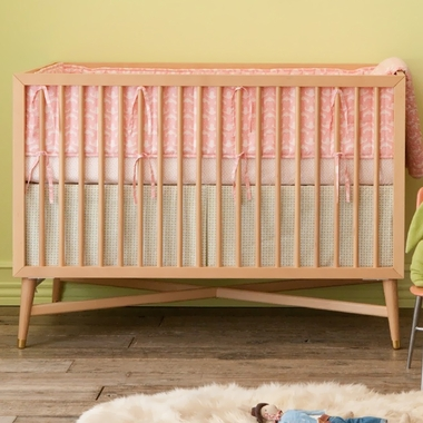 mid century crib natural f 1000 natural by dwellstudio