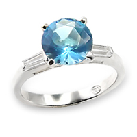 Aqua Blue Solitaire Ring A6X065