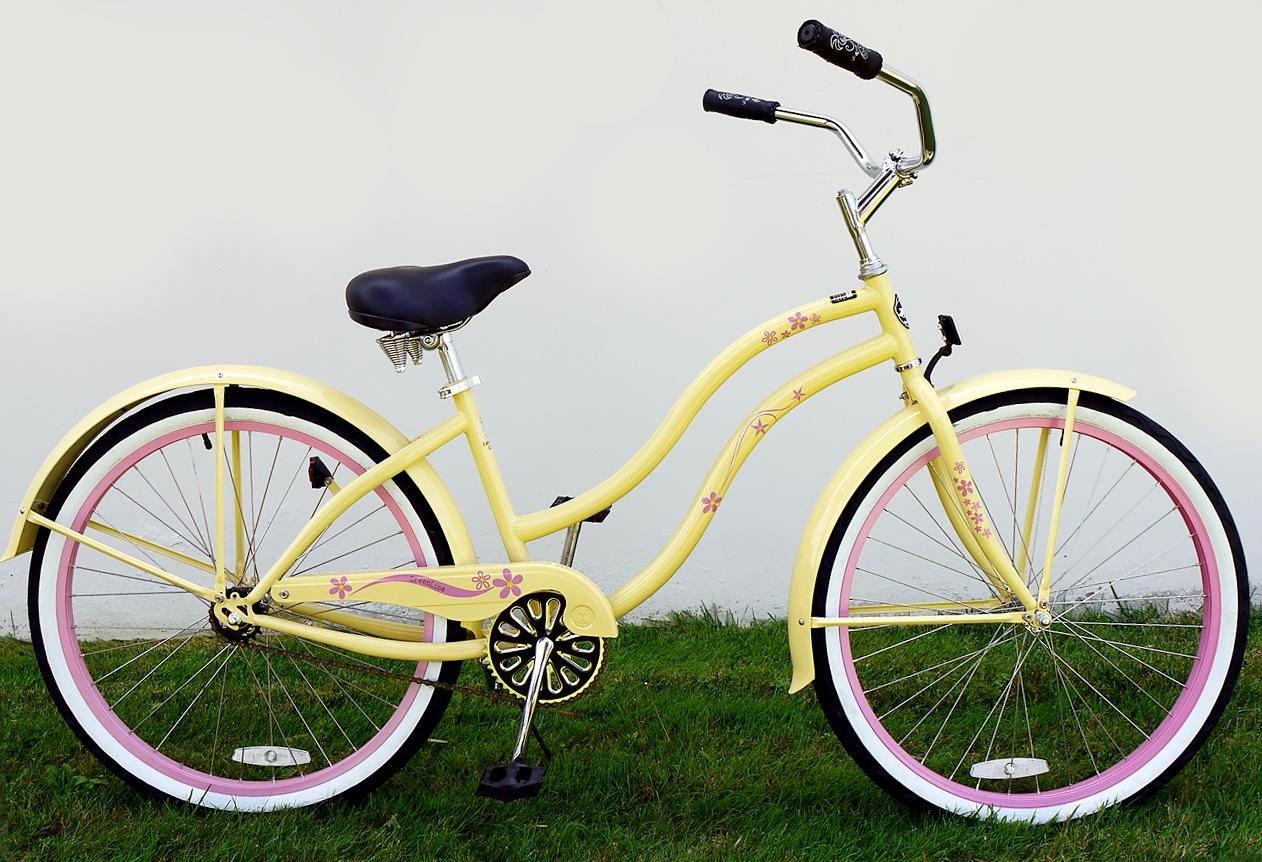 Greenline bicycles lady 26 bc 105dl extended deluxe beach cruiser