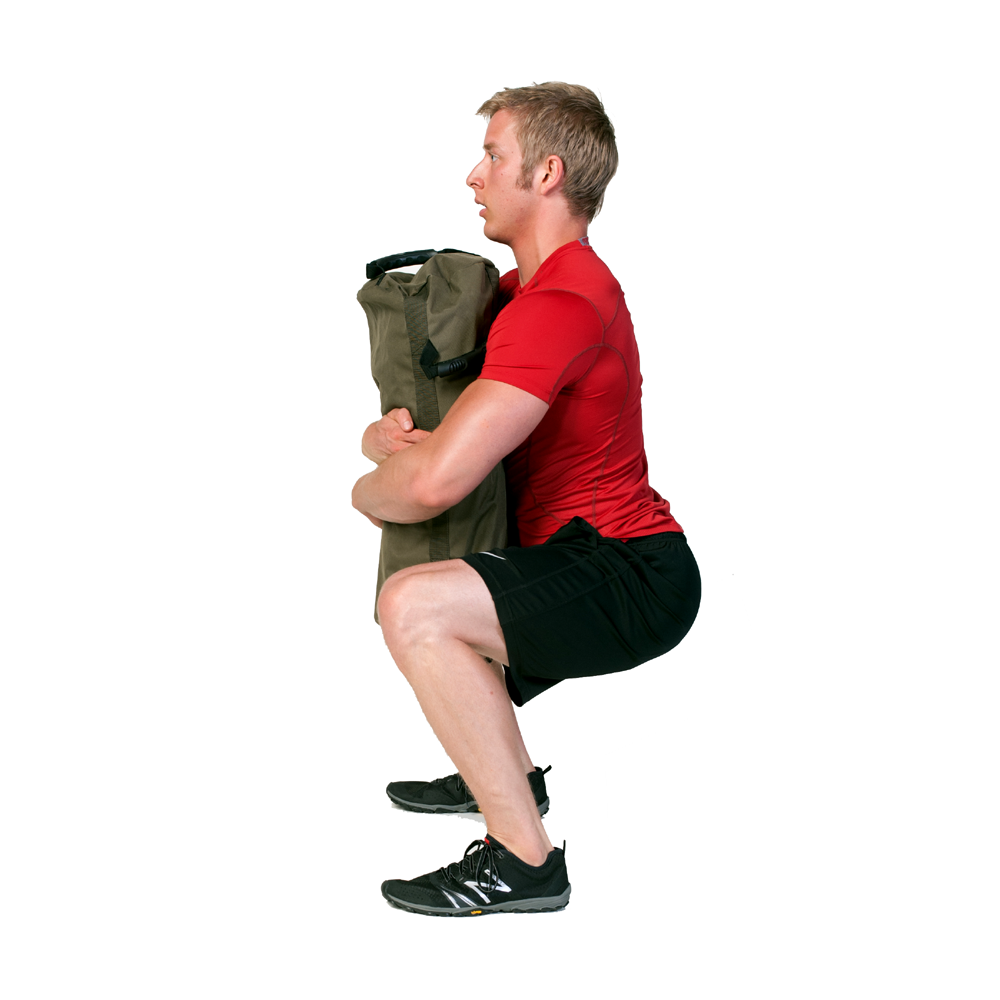 Sandbag Exercise Guide Bear Hug Squat