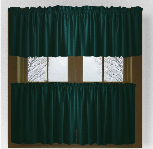 Dark Teal Cafe Curtains And Valance