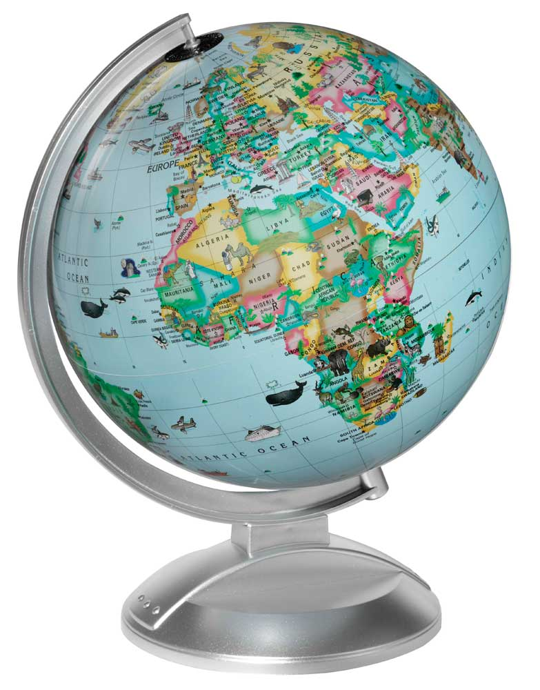 Globe 4 kids illuminated earth globe by replogle globes blue globe all prices are in us dollars free shipping only applies to lower 48 states regular shipping rates apply to hawaii alaska internationally gumiabroncs Choice Image