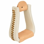 Rawhide Leather Covered Roper Stirrups