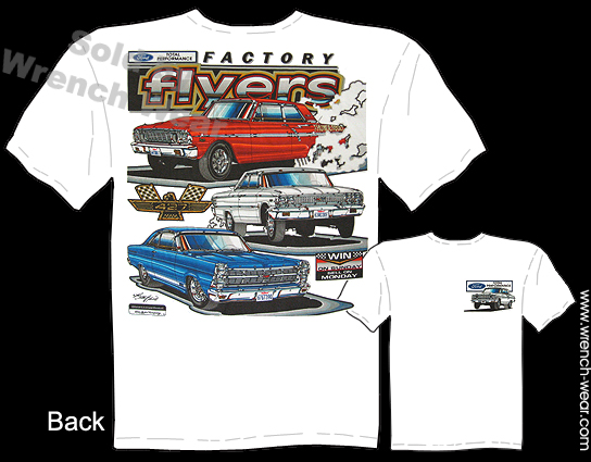 Ford Racing Shirt Muscle Car Tshirts Vintage Drag Racing Tee Factory