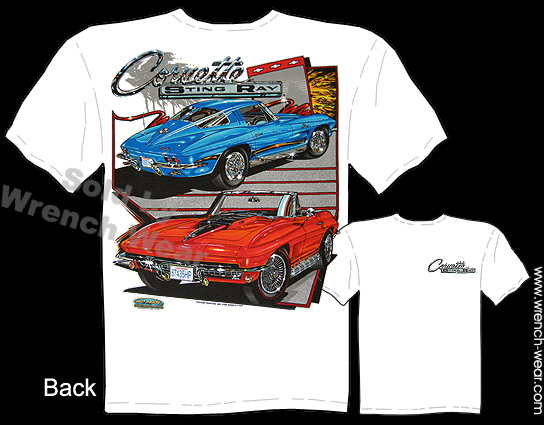 Corvette Apparel 63-67 Stingray T Shirts 1963-1967 Chevy Tee