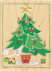 GUND Countdown To Christmas Tree Puzzle