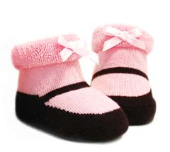 Knitted Mary Jane Baby Booties by Trumpette