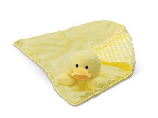 Baby Gund Duck Dottie Dot Blanket - NWT