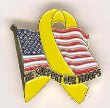 """The """"We Support Our Troops"""" Pin"""