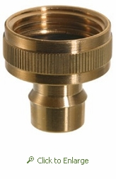 Female 3/4 Garden Hose thread x Small Diameter Snap Fitting
