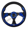 NRG Pilota Steering Wheel Black/Blue ST-001BL