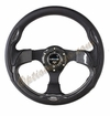 NRG Pilota Steering Wheel Black/Carbon Fiber Look ST-001CFL