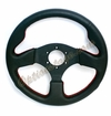 NRG Race Sport Steering Wheel Black with Red Stitch ST-012R