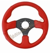 NRG Race Sport Steering Wheel Red Leather/Yellow Stitch ST-012RR-YS