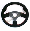 NRG Race Sport Steering Wheel Suede with Red Stitch ST-012S
