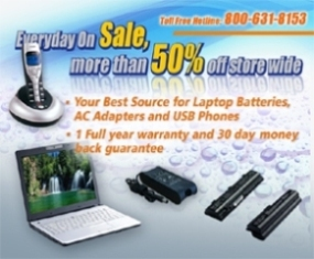 Professional Lithium battery, laptop battery and laptop adapters!