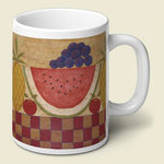 Folk Art Fruit Mug<br>* RETIRED *