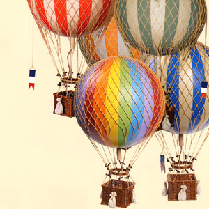Authentic Models Hot Air Balloons, Planes, & Planets